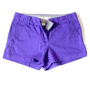 Purple J. Crew 'Broken-In Chino' Shorts